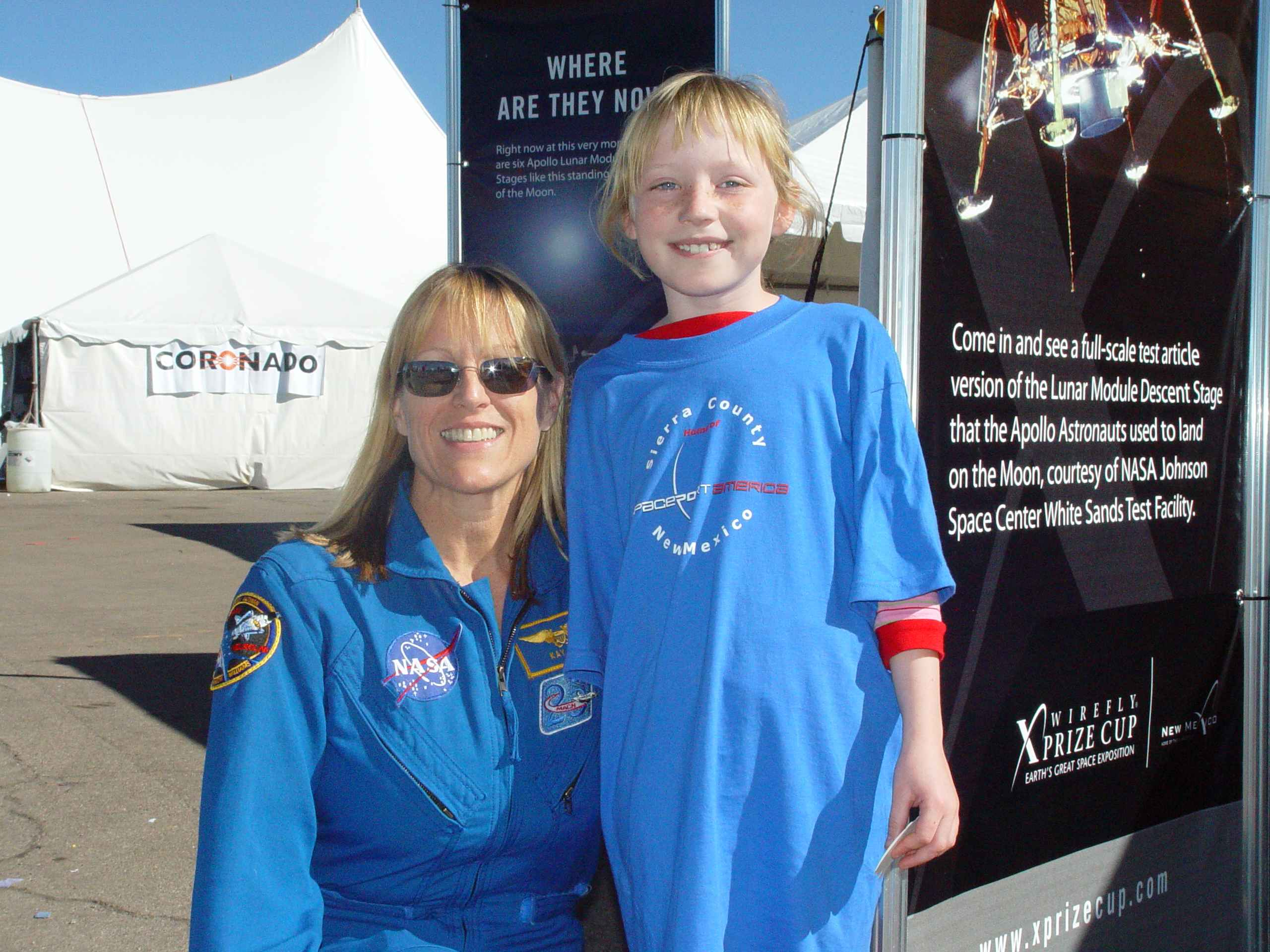 Jr Guide, Gidget Moon Miller with Astronaut, Kathryn Hire